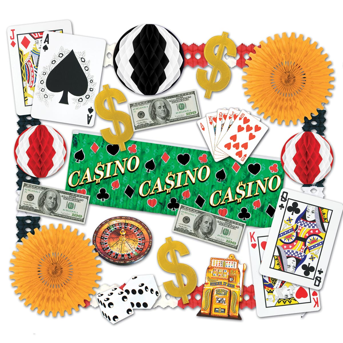 Casino Night Decorating Kit MN Party Store