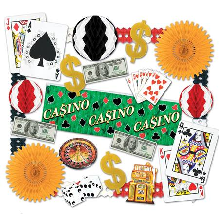 Casino Night Decorating Kit