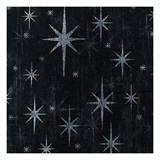 59 inch White Stars on Black Gossamer