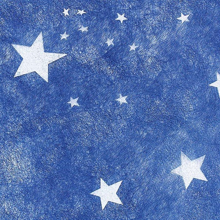 White Stars Patterned Gossamer, 59 in. x 25 yards