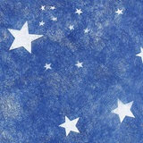 White Stars Patterned Gossamer, 19 in. x 25 yards