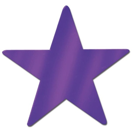 Foil Stars, 15 in. - Purple