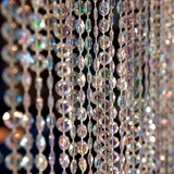 Iridescent Diamond-Cut Crystal Curtain, 9'