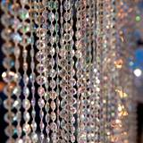 Diamond-Cut Crystal Swag Curtain