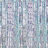 Silver Holographic Fringe Curtain
