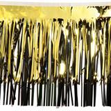 Metallic Gold and Black Layered Fringe Drape