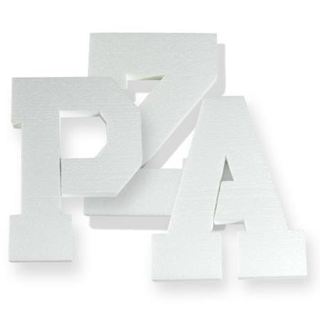 Styrofoam Letters and Numbers - 11 in