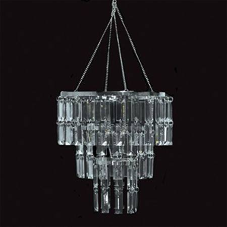 Two Tier Emerald Cut Crystal Chandelier M N Party Store