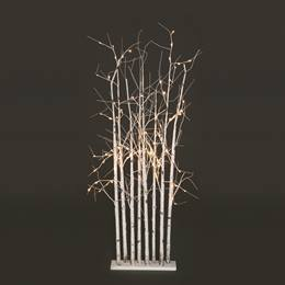 Large Lighted Birch Tree Cluster