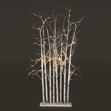 Small Lighted Birch Tree Cluster
