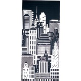 Black and White City Nights Mural