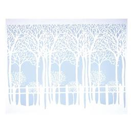 Trees Mural - blue & white