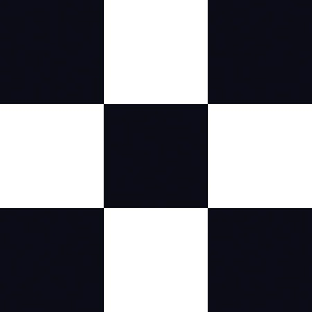 Black and White Checkerboard Flat Paper