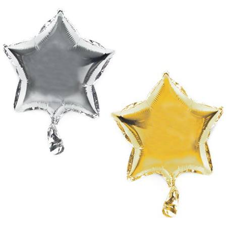 Metallic Star Balloon, 9 in.