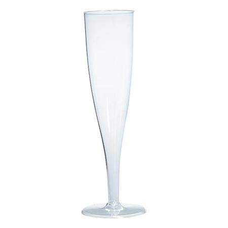 Clear Plastic Fluted Champagne Glasses