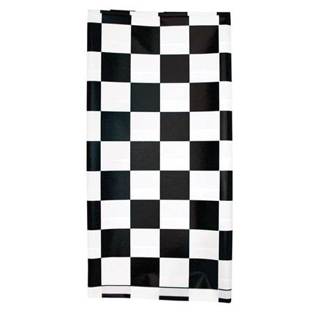 Black Checkered Tablecover