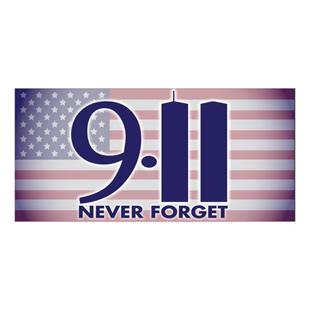 911 Never Forget Banner