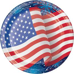 Patriotic Party Dinner Plates
