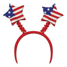 Patriotic Star Bopper 10 in. total height