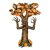Scary Pumpkin Tree Jointed Cut-Out