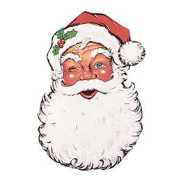 Jumbo Santa Face Cut-Outs 26 in. - 2 per pkg