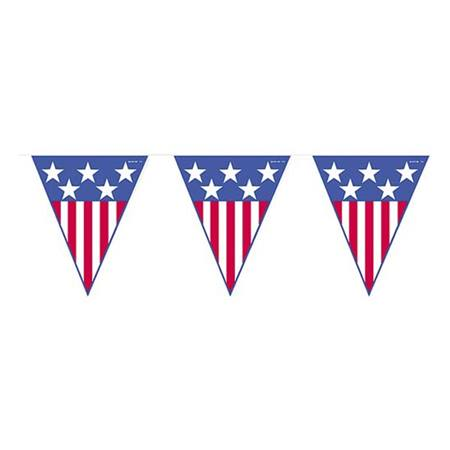 Stars and Stripes Pennant String