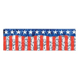 Stars and Stripes Fringe Banner