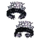 Black and Silver Happy New Year Tiaras