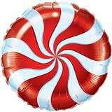 Candy Cane Swirl Metallic Balloon