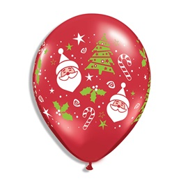 Santa and Christmas Tree Balloon Pack