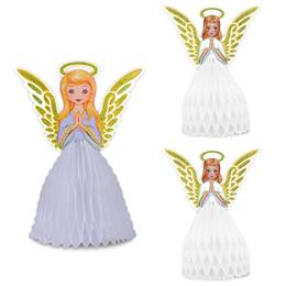 Vintage Christmas Angel Centerpiece Set
