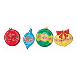 Colorful Christmas Ornament Cutouts