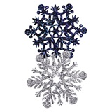 Prismatic Snowflake Decorations