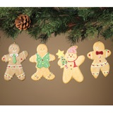 Foam Holiday Gingerbread People Ornaments