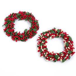 Holiday Holly Berry Candle Ring