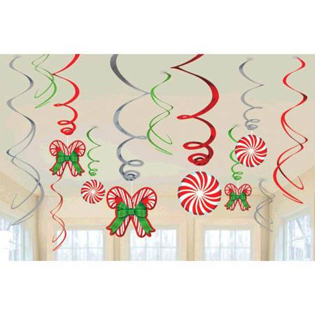 Candy Cane Foil Swirl Value Pack