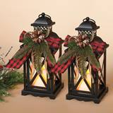 Metal Holiday Lantern Set