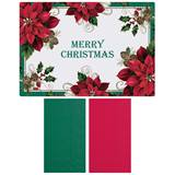 Red Poinsettia Placemats and Napkins Value Pack