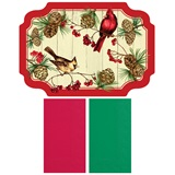 Winter Cardinals Placemats and Napkins Value Pack