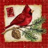 Christmas Cardinals Beverage Napkins