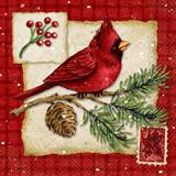 Christmas Cardinals Luncheon Napkins