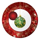"Elegant Ornaments 9"" Dinner Plates"