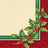 Festive Greenery Beverage Napkins