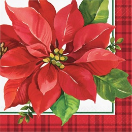 Holiday Poinsettia Luncheon Napkins