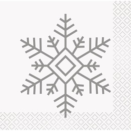 Holiday Snowflakes Beverage Napkins