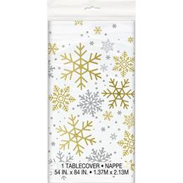 Holiday Snowflakes Table Cover