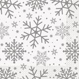 Holiday Snowflakes Luncheon Napkins