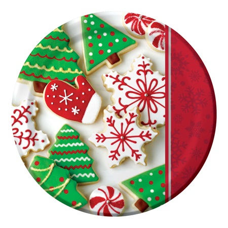 "Holiday Treats 9"" Dinner Plates"