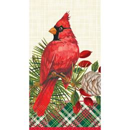 Red Christmas Cardinals Dinner Napkins