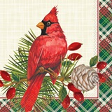 Red Christmas Cardinals Luncheon Napkins